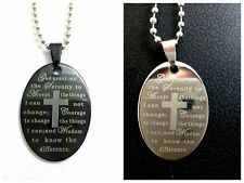 25 Serenity Bible  stainless  steel pendant necklace dog tag wholesale