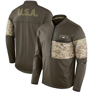 New NFL Dallas Cowboys Nike Salute To Service STS Sideline Hybrid 1/2 Zip Jacket