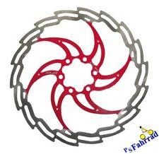 XLC Bremsscheibe f. Shimano und Magura BR-X02 Ø 180 mm silber/rot Disc