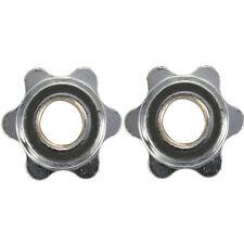"1 Pair 1"" Standard Barbells Spinlock Collars Screw Clamp Dumbbells Bar"