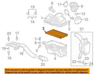 Chevrolet GM OEM 13-15 Spark Engine-Air Filter Element 96910360