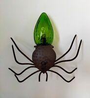 Araignée Applique veilleuse luminaire fer forgé et verre