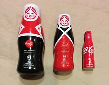 Rare Singapore Russian Doll Coco-Cola Miniature Alu Bottle Russia World Cup