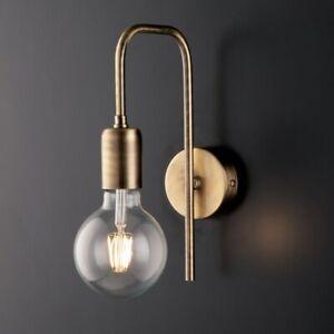 Wall Light Classic Vintage Metal Brass Brushed 1 Light