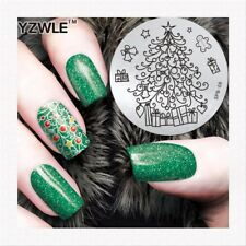 Nail Art Stamping Plates Image Plate Decoration Christmas Presents Tree SPB09