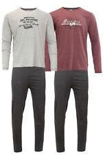 Jeton Herren Pyjama Langarm Schlafanzug 100% Baumwolle Schlafhose + M L XL 2XL