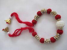 Fiore Gioielli Bracciali colore rosso con perla bianca per le donne e ragazze-NT9
