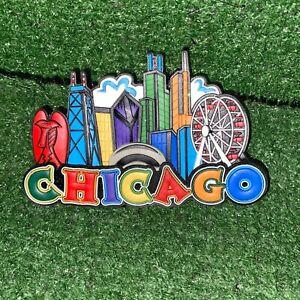 Chicago City Skyline 3D Rubber Fridge Magnet Souvenir