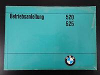 BMW 5er E12 520 525 Handbuch Betriebsanleitung Bedienungsanleitung Bordbuch 1974