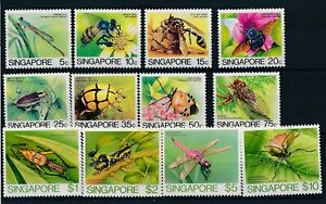 [320584] Singapore insects good set very fine MNH stamps