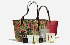 Neiman Marcus Blue Multi-Color Summer Beauty Bag Purse Tote Shopper Large NEW!