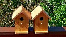 TWO Solid Wood Cedar Bird Houses