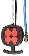 Hängeverteiler mit 4 Steckdosen 230V 16A und Druckluftanschluss außen Art. 633