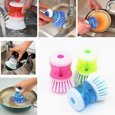 Soap Dispensing Wash Up Brush Washing Scrubbing Cleaning Dish Liquid Cleaner New