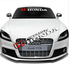 Auto Car Front Rear Windshield Window Banner Reflective Decal Sticker For Honda