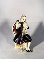 """Wilhelm Rittirsch-Dresden Art-Germany-Porcelain Figurine-Musician/Flute-c1950-4"""""""