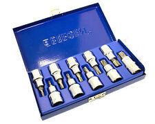 """Bergen 10pc 1/2"""" unidad MacHo Torx/Estrella Bits Socket Set T20-T70 1128"""