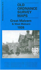 OLD ORDNANCE SURVEY MAP GREAT MALVERN & WEST MALVERN 1926