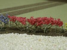 Goodwood Scenics Red Flower Blooms x 4 Foliage Realistic Scenery OO/HO Gauge