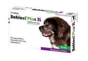 Dehinel Plus XL for Dogs 2 tablets against worms adult puppies treatment vet med