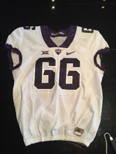 Game Worn Used Nike TCU Horned Frogs Football Jersey #66 Size 48