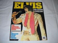 Elvis The Legend Lives On Magazine Used Fair Condition 1978 Marvel Publishing