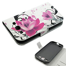 Flower Leather Wallet Flip Cover Case Stand For Samsung Galaxy S3 III i9300