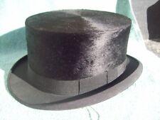 Vintage Black Top Hat- Meyers Lexington Kentucky- Size 7 Steampunk NOS with Box