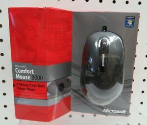 Microsoft Comfort Mouse 3000 Enhanced Grip Bluetrack Technology *New*