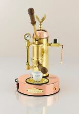 Elektra Micro Casa Copper Brass Manual Lever Espresso & Cappuccino Machine 220V