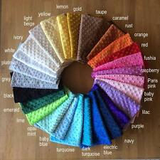 """SHANNON CUDDLE DIMPLE PLUSH Baby fabric supersoft fleece 60"""" wide in 28 COLOURS"""