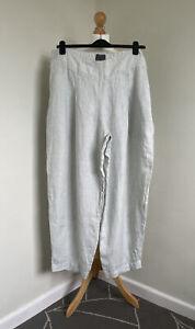 OSKA Stunning Taga Trousers 021 Wash Pale Sage Mini Check Irish Linen Sz 5 NWOT