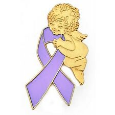 Syndrome Guardian Angel Awareness New Lavender Ribbon Lapel Pin Rett