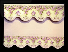 LOVELY LILAC FLORAL  BLIND / CURTAIN FOR DOLLS HOUSE - BY SYLVIA ROSE