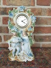 Vintage German religious Porcelain Clock