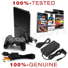 Original Sony Playstation PS2 Slim System Console + Controller + 3 Random Games