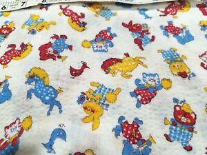 Vintage Wamsutta Whales Juvenile Kids Print Novelty Fabric Curtains