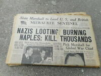 SEPT 22 1943 MILWAUKEE SENTINEL newspaper section WWII - LOOTING NAZIS