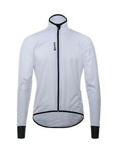 Scudo  Lady's Lightweight Packable Windbreaker Cycling Jacket by Santini  White