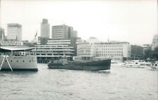 British MV james P in pool of london 1983