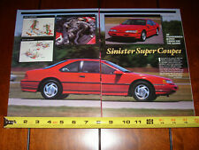 1989 FORD THUNDERBIRD SUPER COUPE SUPERCHARGED T BIRD  - ORIGINAL 1989 ARTICLE