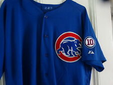 2011 CARLOS PENA CHICAGO CUBS Game Used Worn Blue Jersey COA W/ RON SANTO PATCH