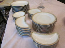 Antique Porcelain M & Z Austria Dinnerware, 49 piece Service for 11