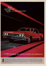 1966 Oldsmobile Olds 4-4-2 400 cubic-inch 350-hp PRINT AD