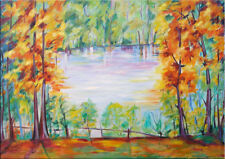 """39"""" - LANDSCAPE________ORIGINAL oil painting by ANNA !!"""