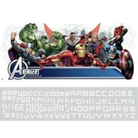 AVENGERS ASSEMBLE GIANT PERSONALIZED WALL DECALS BiG Headboard Stickers Decor