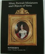 Sotheby London November 7 1996 Silver Portrait Miniatures and Objects of Vertu
