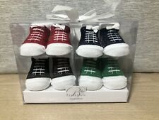 A.D Sutton & Sons Baby Essentials 4 Pack Of Socks Converse Sneaker Look