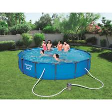 Bestway 56595 14ft conjunto de piscina por encima de la Tierra