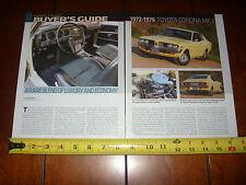 1972 1973 1974 1975 1976 TOYOTA CORONA MK II  - ORIGINAL 2011 ARTICLE